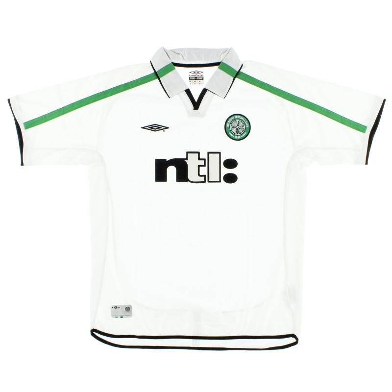 2001-02 Celtic Away Shirt XL