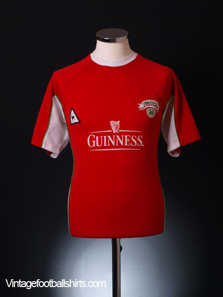 2001-02 Cork City Home Shirt L.Boys