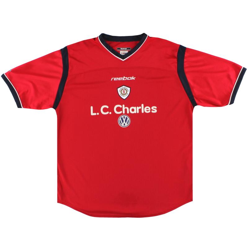 2001-02 Crewe Alexandra Reebok Home Shirt L
