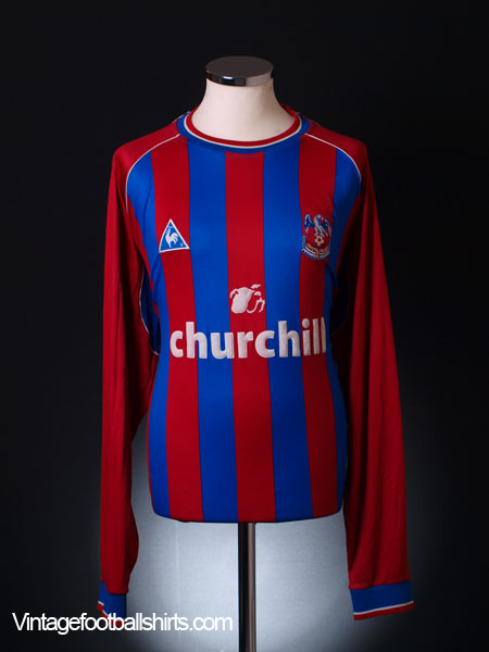 2001-02 Crystal Palace Home Shirt L/S XXL