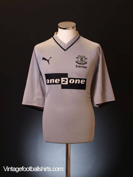 2001-02 Everton Away Shirt L