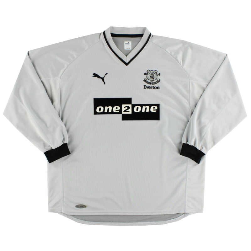 2001-02 Everton Away Shirt L/S XL