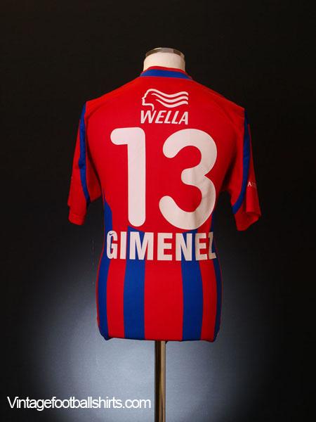 2001-02 FC Basel Home Shirt Gimenez #13 S