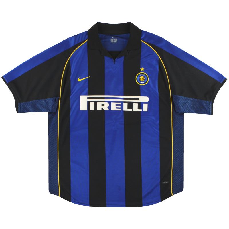 2001-02 Inter Milan Nike Home Shirt XL