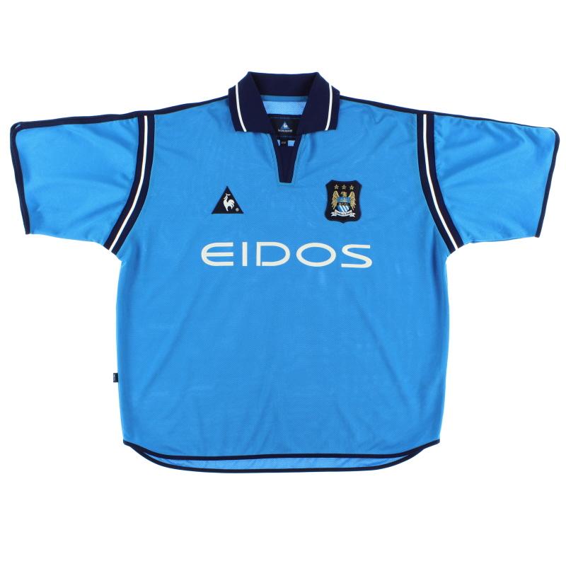 2001-02 Manchester City Home Shirt L