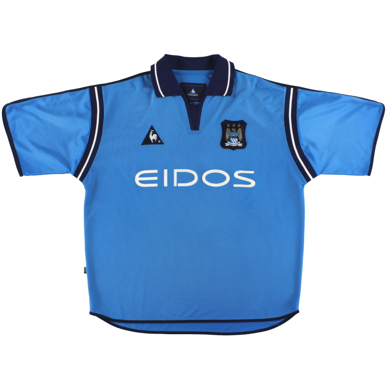 2001-02 Manchester City Le Coq Sportif Home Shirt L