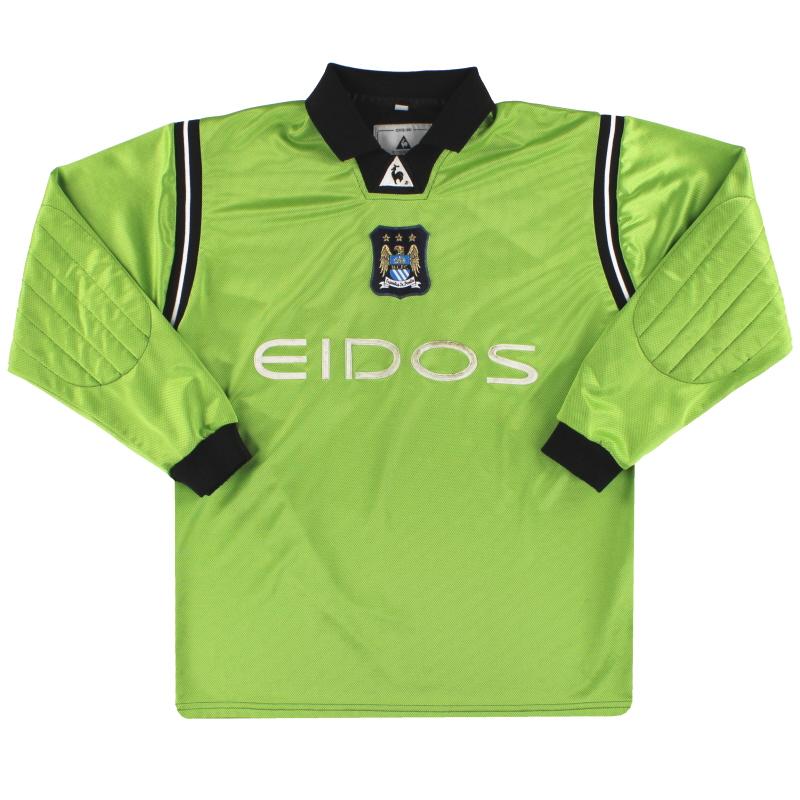 2001-02 Manchester City Le Coq Sportif Goalkeeper Shirt M