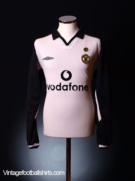 2001-02 Manchester United Centenary Away Shirt L/S L