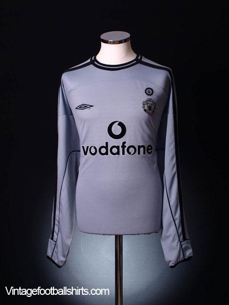 2001-02 Manchester United Centenary Goalkeeper Shirt XL
