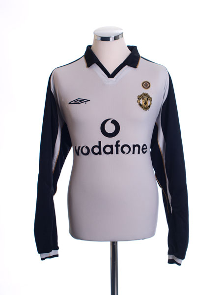 2001-02 Manchester United Centenary Reversible Away Shirt L/S S