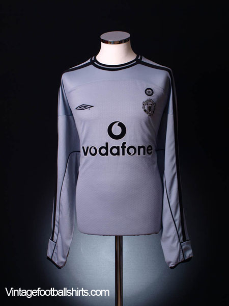 2001-02 Manchester United Centenary Goalkeeper Shirt L/S XL