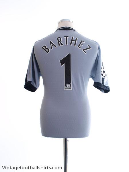 2001-02 Manchester United CL Goalkeeper Shirt Barthez #1 M