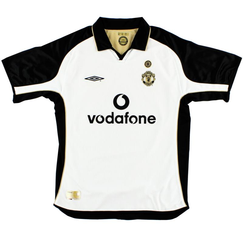 2001-02 Manchester United Umbro Centenary Away Shirt L