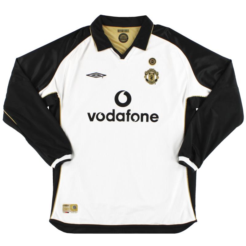 2001-02 Manchester United Umbro Centenary Reversible Away Shirt L/S XL
