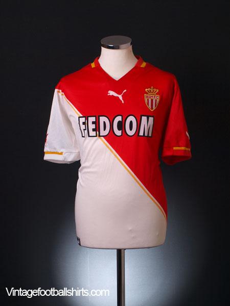 2001-02 Monaco Home Shirt L