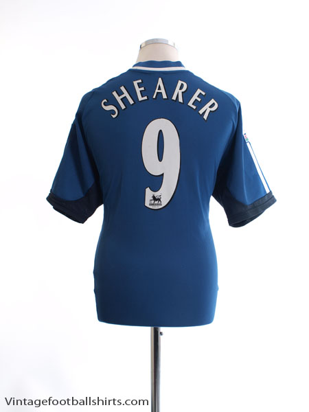 2001-02 Newcastle Away Shirt Shearer #9 L