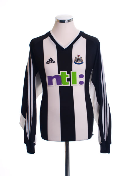 2001-02 Newcastle Home Shirt L/S L