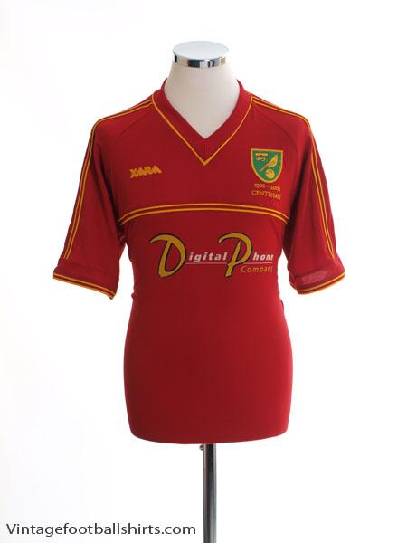 2001-02 Norwich City Centenary Away Shirt M