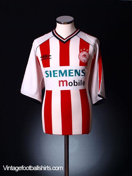 2001-02 Olympiakos Home Shirt L