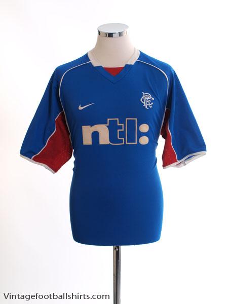 2001-02 Rangers Home Shirt L