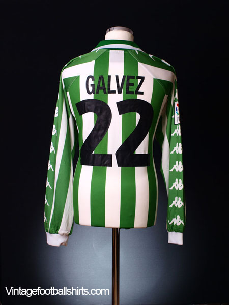2001-02 Real Betis Match Issue Home Shirt Galvez #22 XL