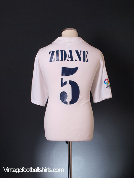 a3b0800e2d3 2001-02 Real Madrid Centenary Home Shirt Zidane  5 L for sale