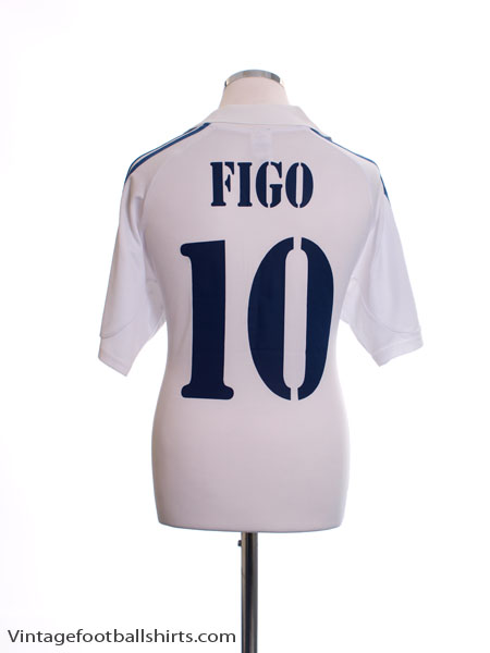 b69e4cb3a7a 2001 Real Madrid Centenary Home Shirt Figo  10 M for sale
