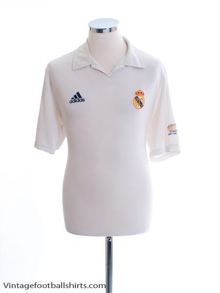 2001-02 Real Madrid Centenary Home Shirt M