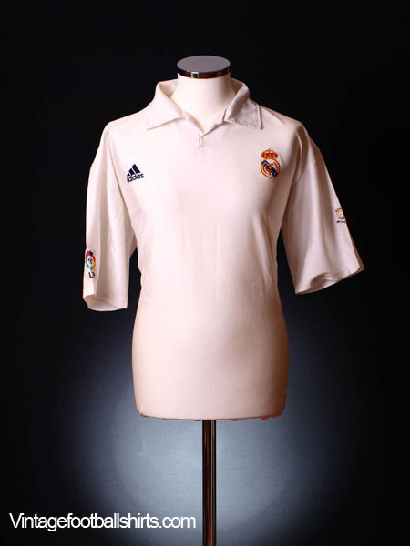 2001-02 Real Madrid Centenary Home Shirt XL