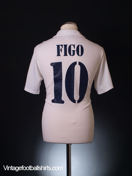2001-02 Real Madrid Centenary Home Shirt Figo #10 S