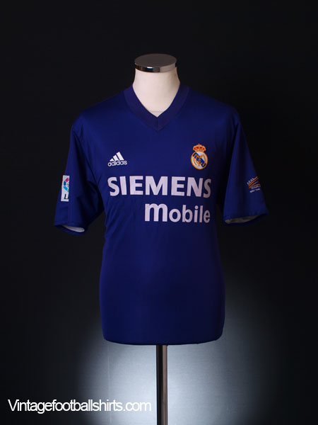 2001-02 Real Madrid Third Shirt L