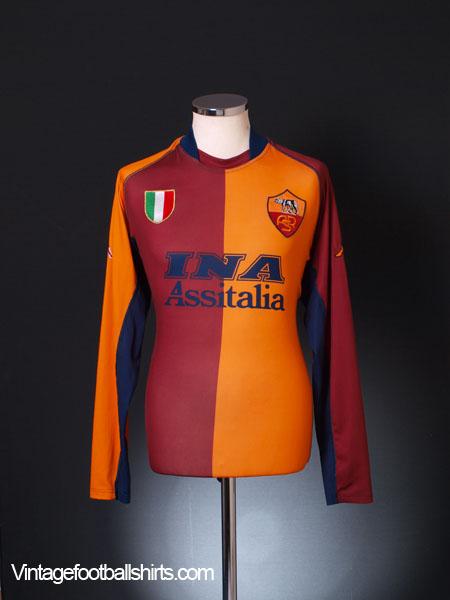 5ae80591255 2001-02 Roma European Shirt L/S XXL for sale