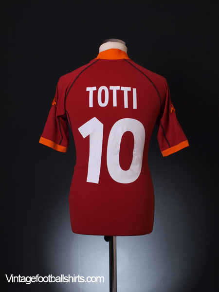 2001-02 Roma Home Shirt Totti #10 S