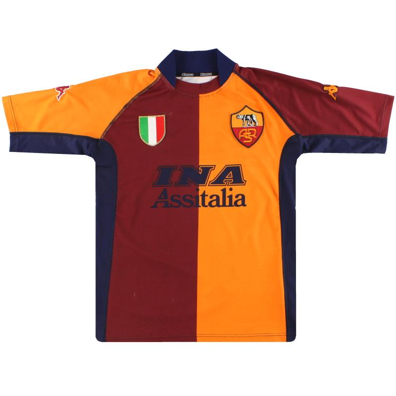 2001-02 Roma Kappa European Shirt L