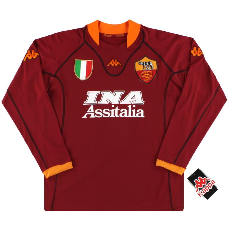 2001-02 Roma Kappa Home Shirt L/S *w/tags* L