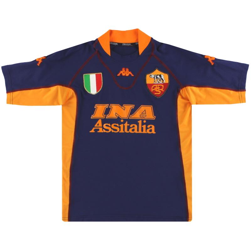 2001-02 Roma Kappa Third Shirt S