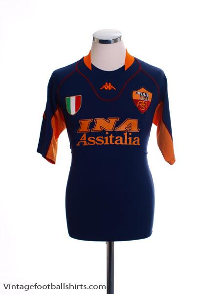 2001-02 Roma Third Shirt XL