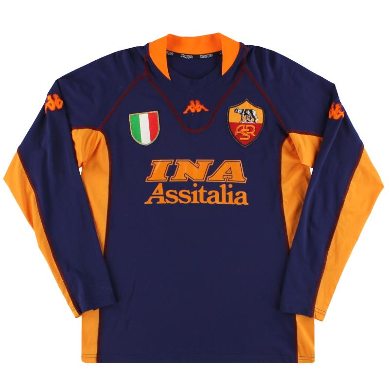 2001-02 Roma Kappa Third Shirt XL
