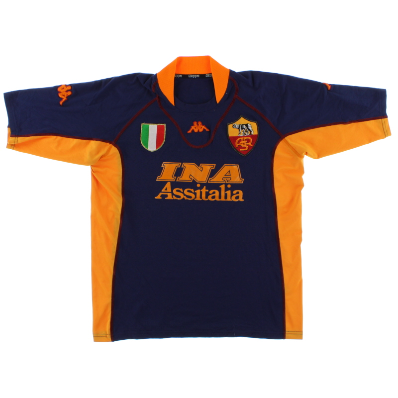 2001-02 Roma Third Shirt XXL