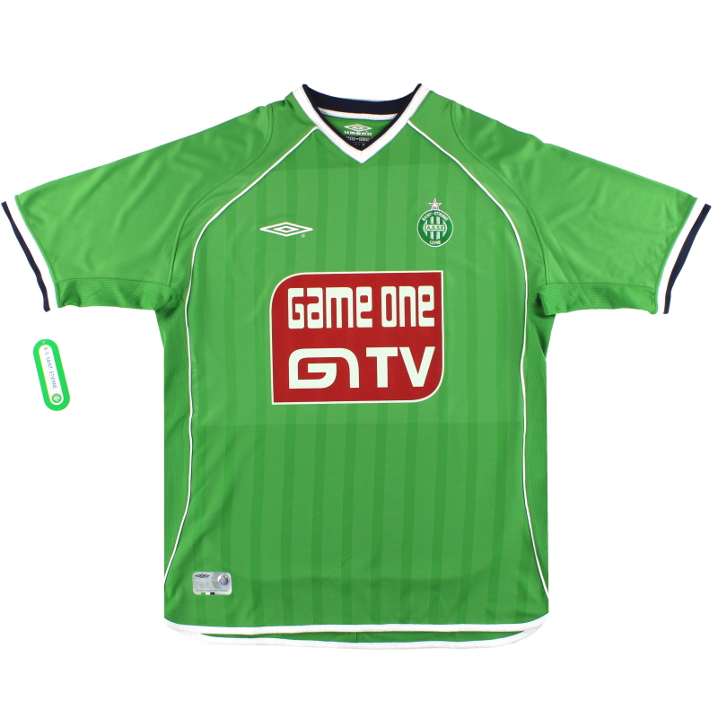 2001-02 Saint Etienne Home Shirt *BNWT* XL