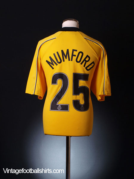 2001-02 Swansea City Away Shirt Mumford #25 XL