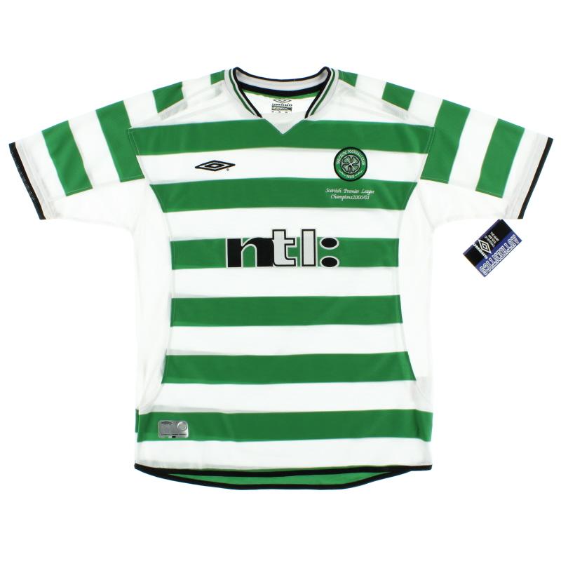 2001-03 Celtic 'Champions' Home Shirt *w/tags* XL