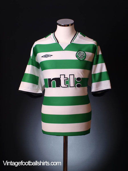 2001-03 Celtic Home Shirt 6/7 yrs.