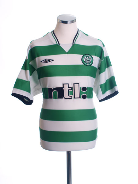 2001-03 Celtic Home Shirt L