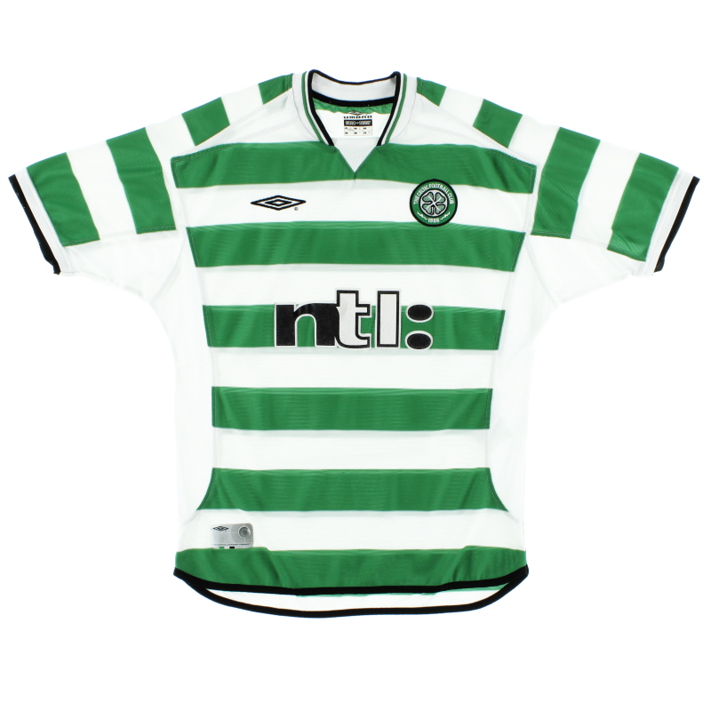2001-03 Celtic Umbro Home Shirt XL