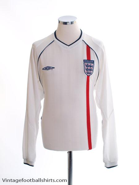 2001-03 England Home Shirt L/S M