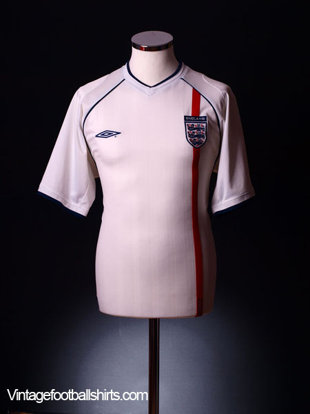2001-03 England Home Shirt XL