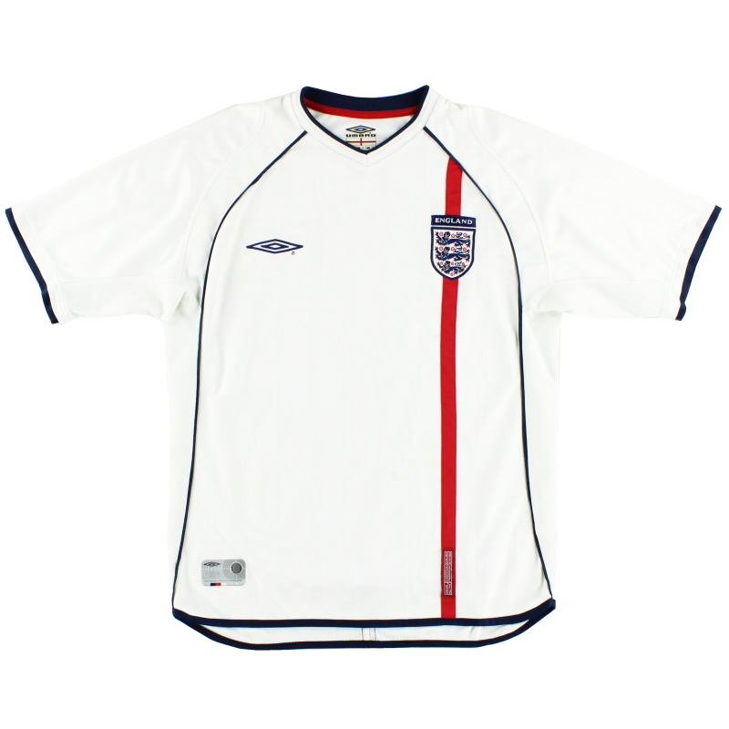 2001-03 England Home Shirt M