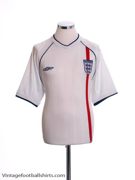 2001-03 England Home Shirt S