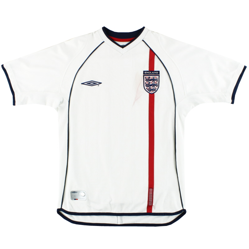 2001-03 England Umbro Home Shirt S